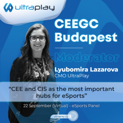 Lyubomira Petrova CMO at UltraPlay joins the CEEGC virtual conference on September 22nd